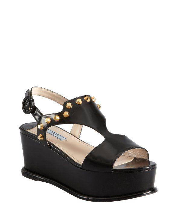 Prada Gathered Leather Slingback Sandals discount for cheap LEwWbAZZf