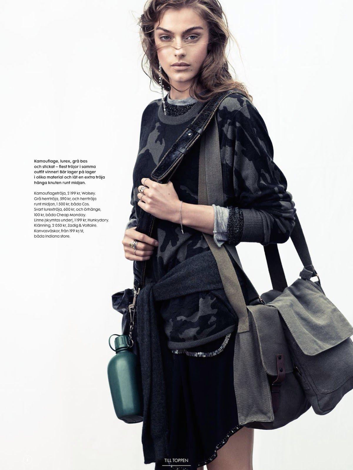Lone Praesto by Honer Akrawi for Elle Sweden September 2014