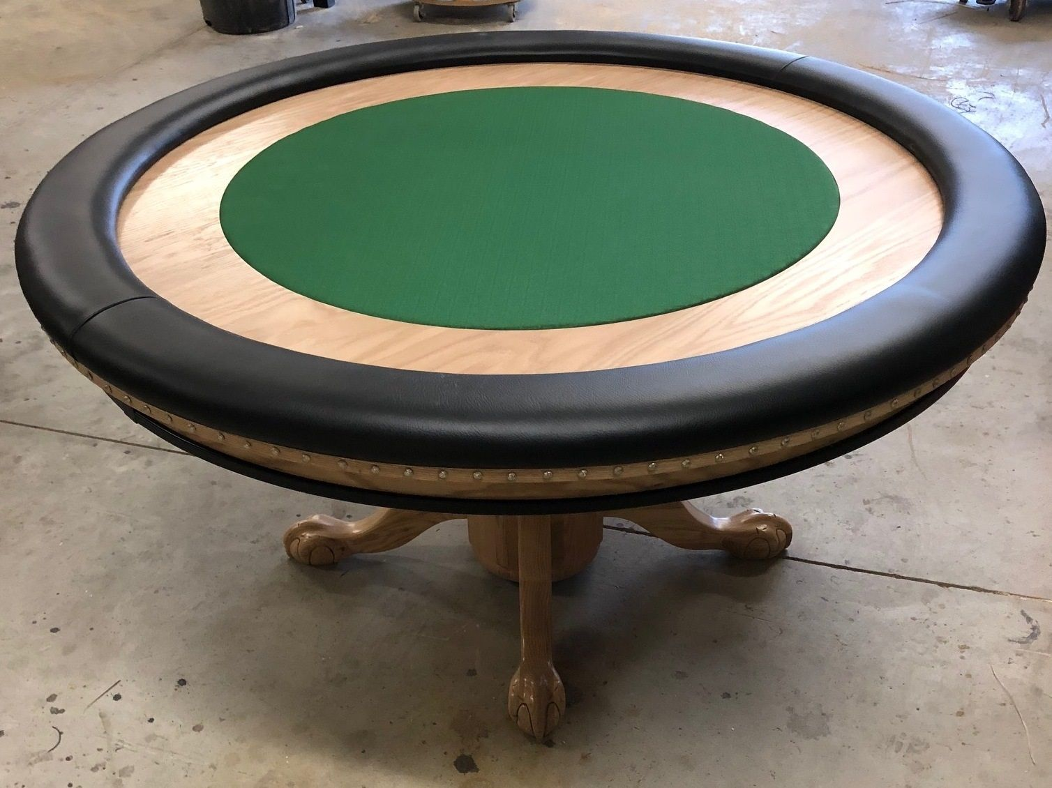 Round Poker Table With Natural Stain Poker Table Round Poker Table Poker