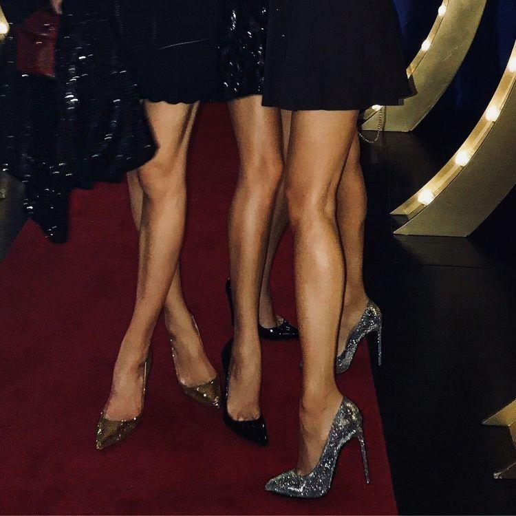 Her Stockings - Women tease by legs, heels, feet in nylon