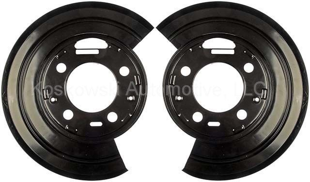 New Rear Brake Dust Shield Backing Plates Pair For Ford F250 F350 Excursion