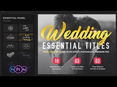 Essential Wedding Titles (Videohive After Effects Templates ...