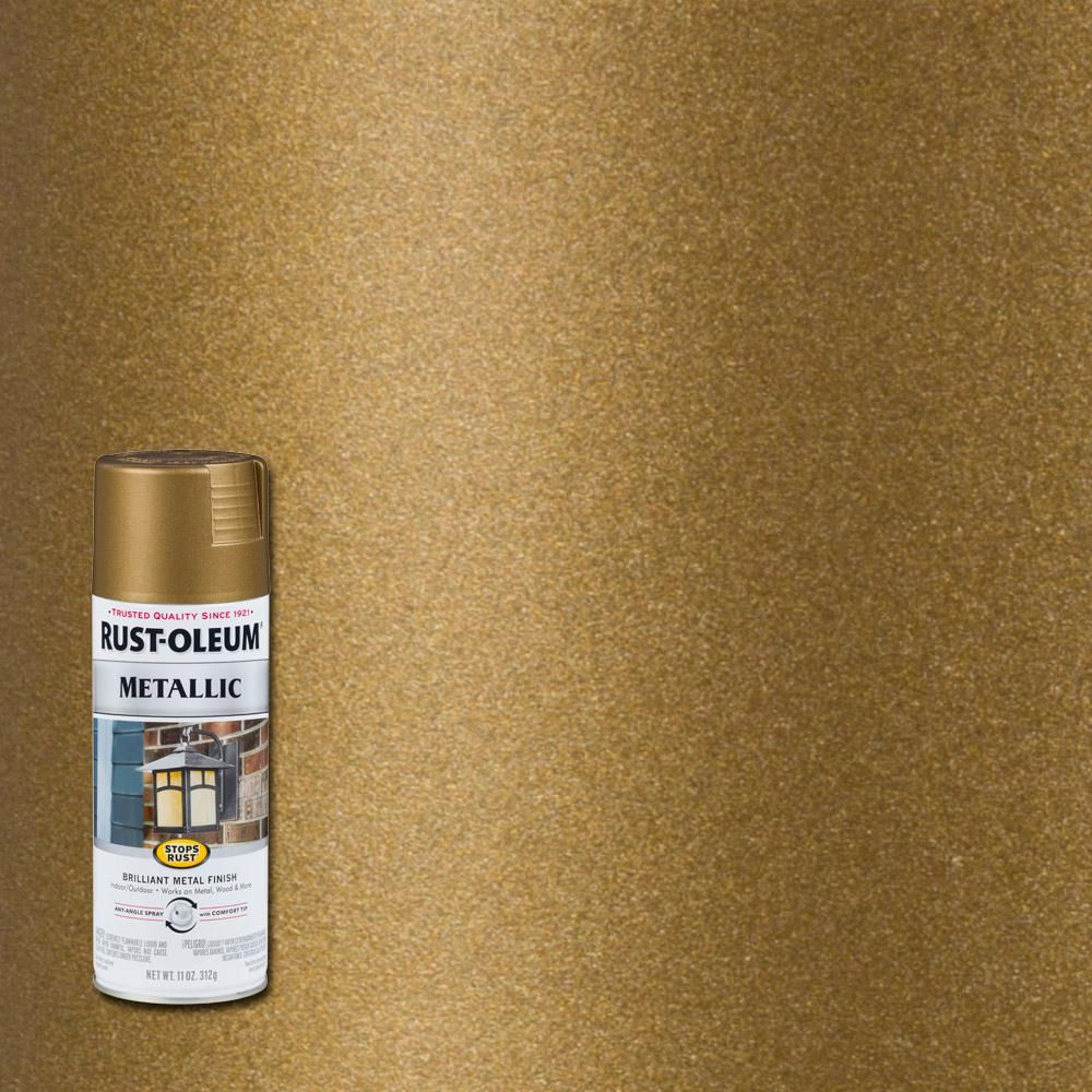 rust oleum stops rust 11 oz metallic champagne bronze protective spray paint 6 pack. Black Bedroom Furniture Sets. Home Design Ideas