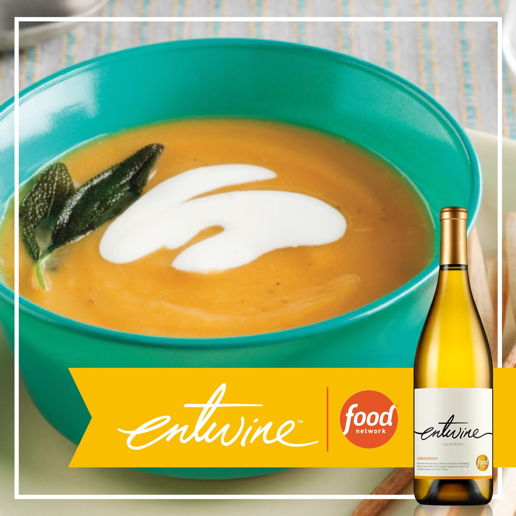 Looking for a way to warm up this fall? Try this butternut squash soup from Food Network. https://www.entwine-wines.com/pairings/butternut-squash-soup
