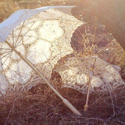 462fd6c9448e Antiqued Battenburg Lace Parasol | W.Flowergirl. | Lace parasol ...