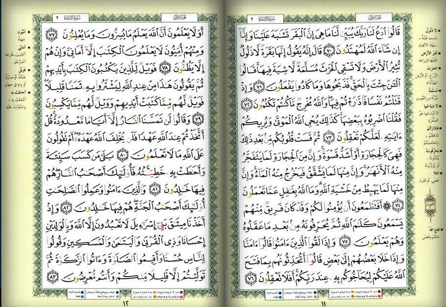 صفحه 11 12 القرآن المصور الجزء الأول سوره البقرة Bullet Journal Wallpaper Quotes Journal