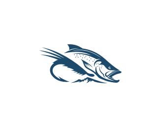 Trout Fishing Logo Sold Logo Design Logo For Fishing Company Br Sold On 99designs Flyfishing Travel Compa Inspirasi Desain Grafis Desain Grafis Grafis