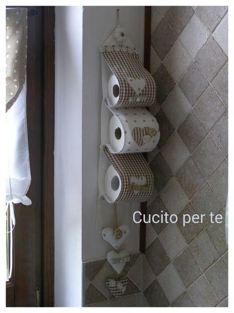 Porta Carta Igienica Fai Da Te.Portarotoli Shabby E Romantico Carta Igienica Arredamento