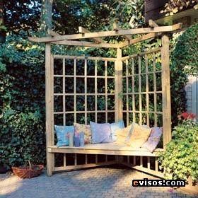 P rgolas de madera para el jard n decorahoy muebles - Arcos de madera para jardin ...
