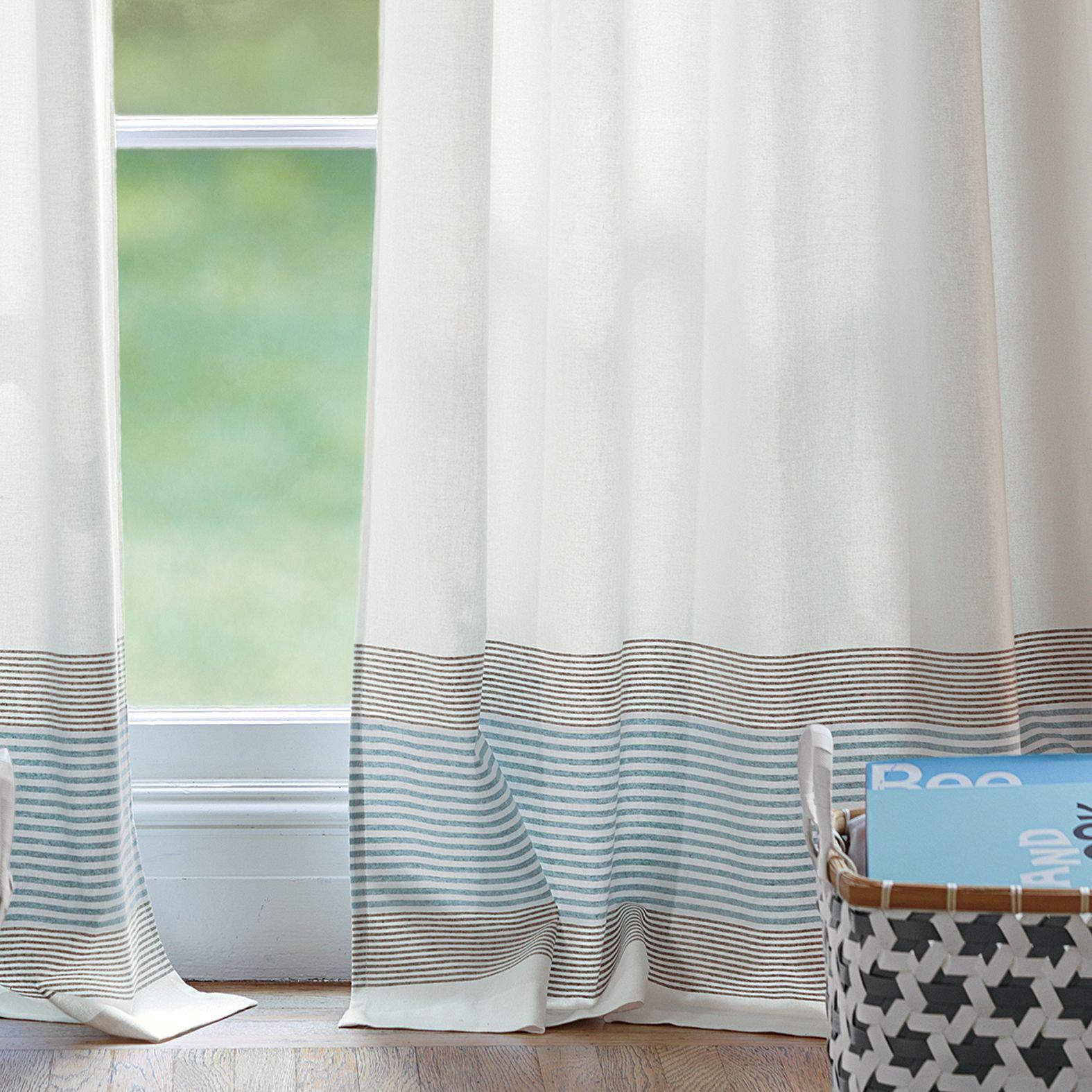 Ivory Yacht Stripe Window Panel Serena Lily Modern Curtains