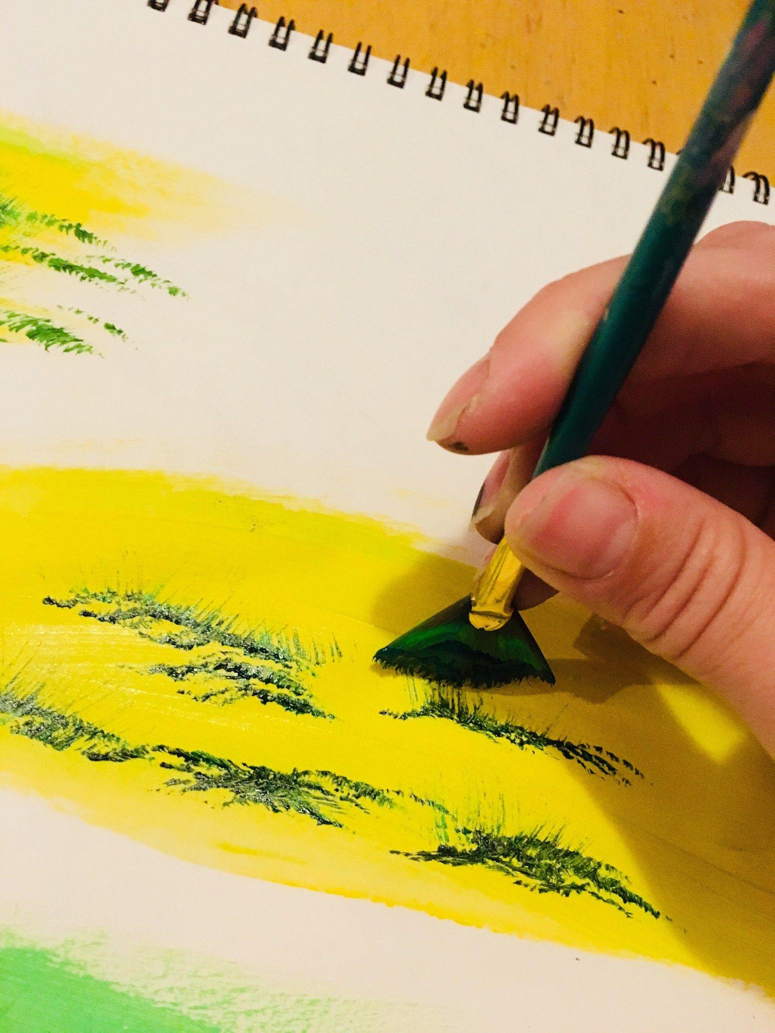 Acrylic Painting Techniques Malvorlage Acryl Malen