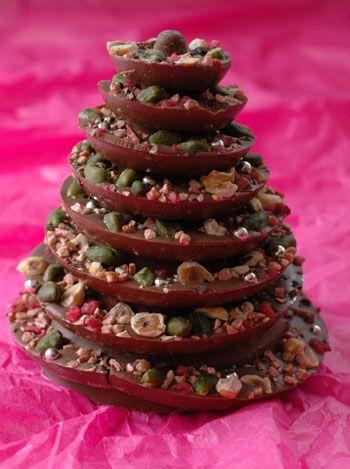 Sapin noel chocolat vue 1ercettes pour noël