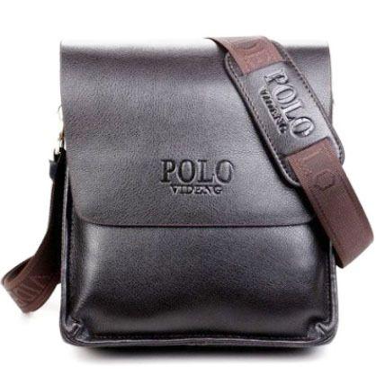 c086fe2cf0 2016 new designers POLO VIDENG brand PU leather black brown quality men s  messenger shoulder handbag bags
