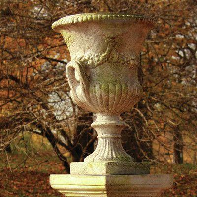 OrlandiStatuary Garden Novelty Composite Urn Planter Drain Opening: