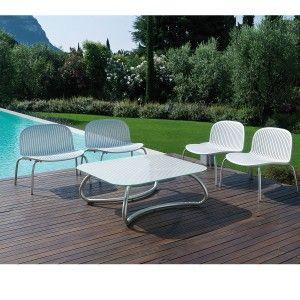 Salon de jardin design gris ou blanc en exclusivité chez atylia ...