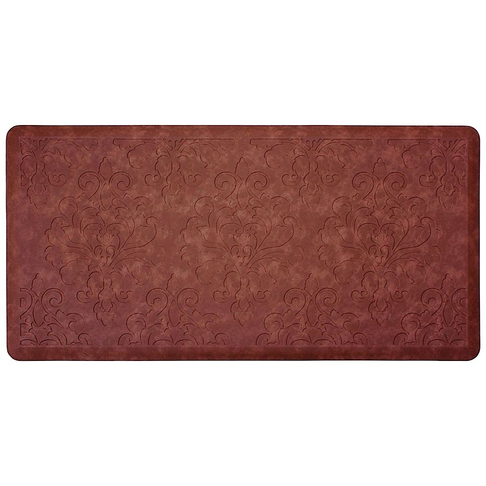 Chef Gear Marni 20 X 39 Embossed Gelness Anti Fatigue Kitchen Mat In Red Bed Bath Beyond In 2021 Anti Fatigue Kitchen Mats Kitchen Mat Kitchen Rugs And Mats Chef gear anti fatigue kitchen mat