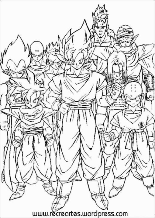Dragon Ball Z Coloring Pages Printable Rhpinterest: Colouring Pages Of Dragon Ball Z At Baymontmadison.com