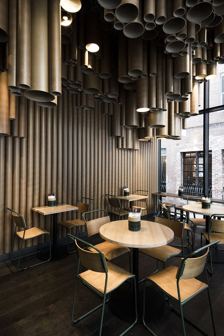 Techné Makes Creative Use of Cardboard Tubes at Grill'd's ...