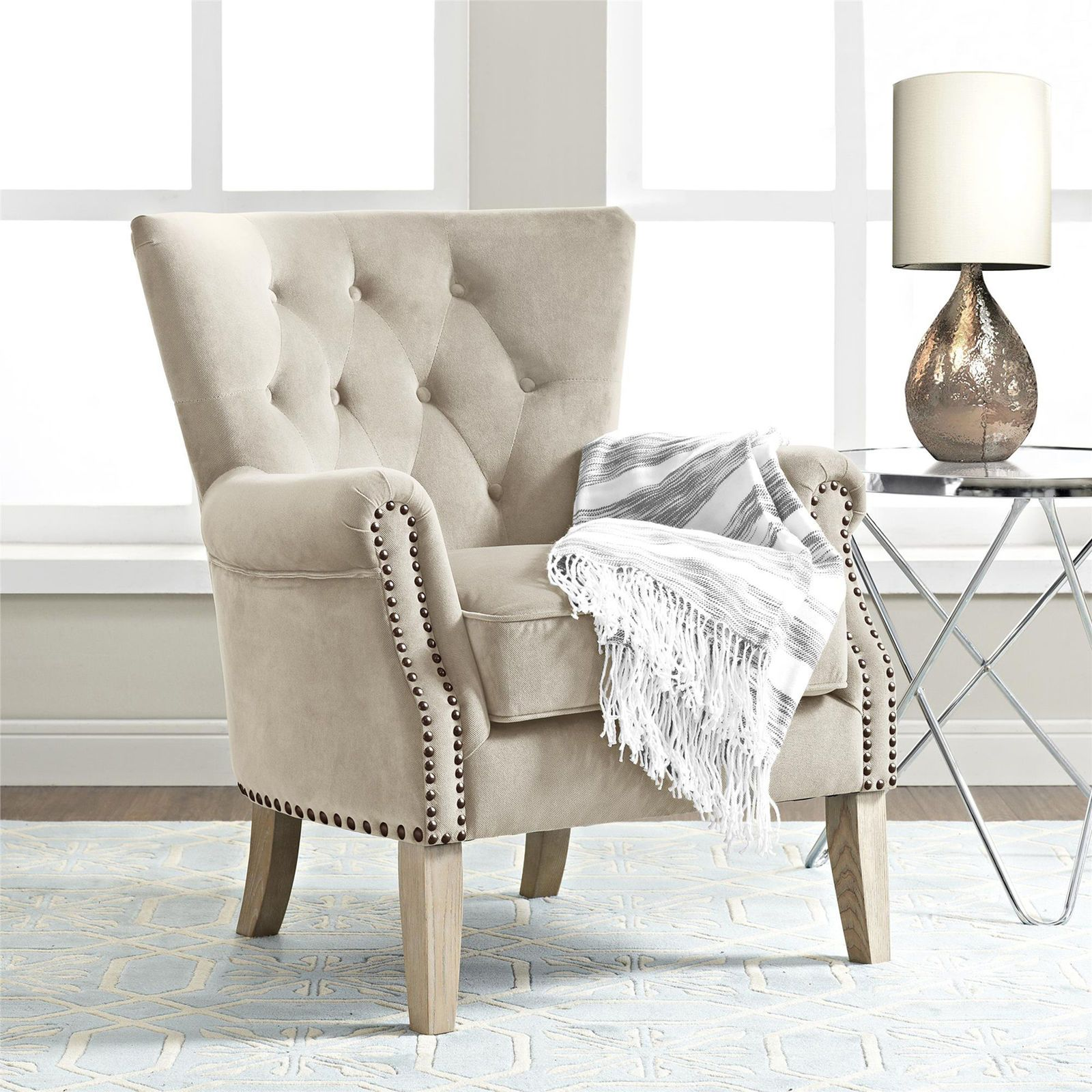 Tufted Beige Chair - Pier 1 Imports