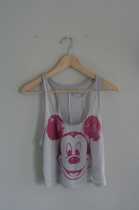 mickey mouse cropped racerback $25