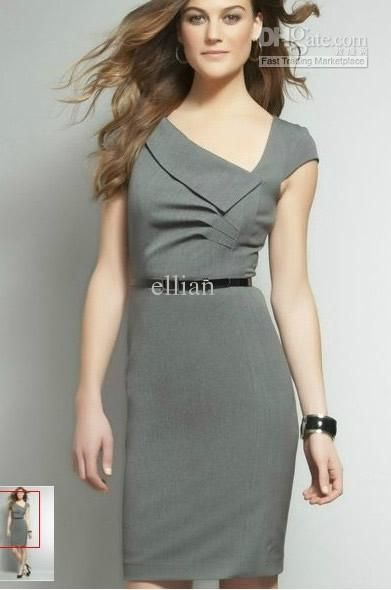 9fa47c5caf 2012 Summer Women Office Lady V Neck Slim Dress Elegant Women Work Dress  From Ellian,