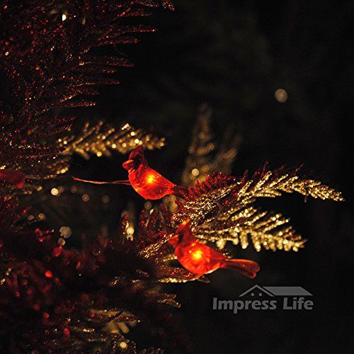 Amazing Christmas Red Snow Bird String Lights By Impress Life® On 10ft Copper Wire  40 Cold Awesome Design