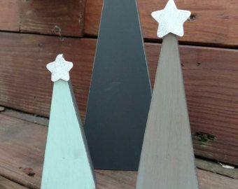 Madera árbol de Navidad, árboles de Navidad, mesa Navidad árbol, árbol Shelf Sitter, árbol de Navidad de madera, decoración de Navidad, Navidad rústica