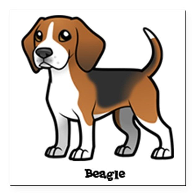Square Car Magnet 3 X 3 By Allthingseveryone Cartoon Dog