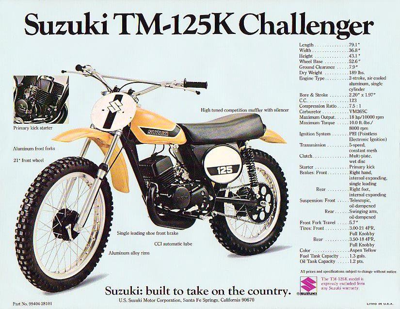 1973 suzuki tm125 challenger dirt bike bikes motorrad. Black Bedroom Furniture Sets. Home Design Ideas