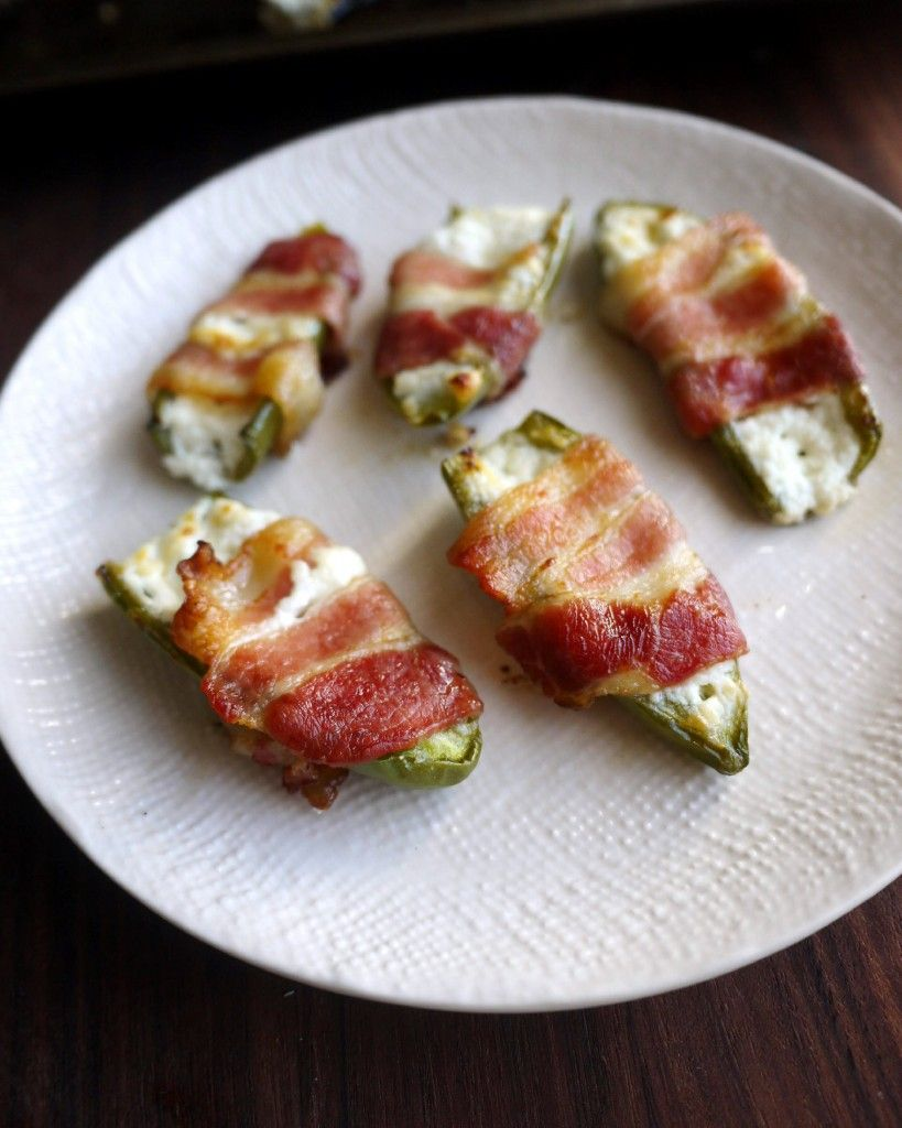 Goat Cheesestuffed, Baconwrapped Jalapenos