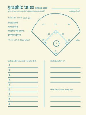 Softball Lineup Printable | Big Red Baseball, Softball And