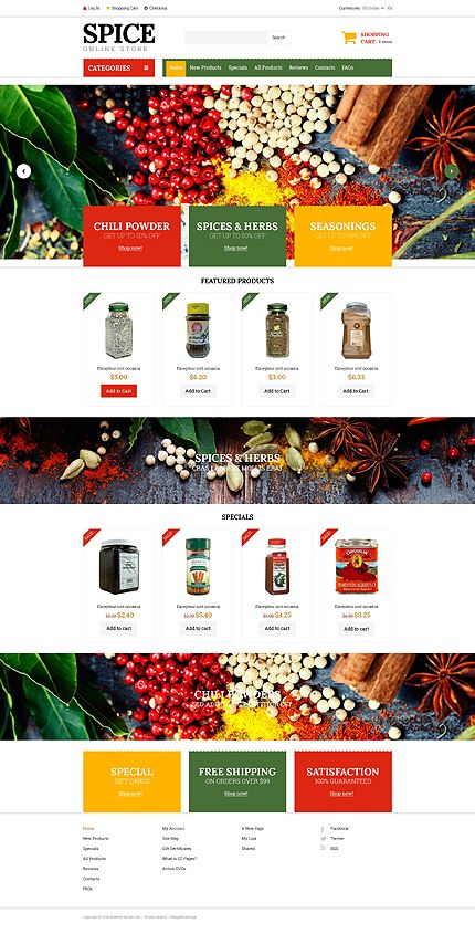 Spice up your life! Check one of our latest #Zencart templates ...