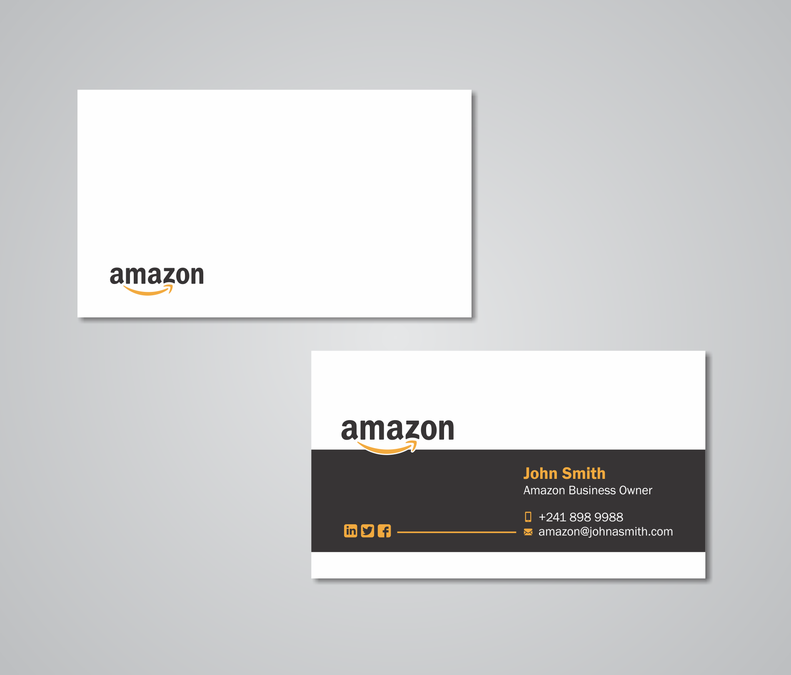 Business card design for amazon business owner by maryo art social business card design for amazon business owner by maryo art reheart Images