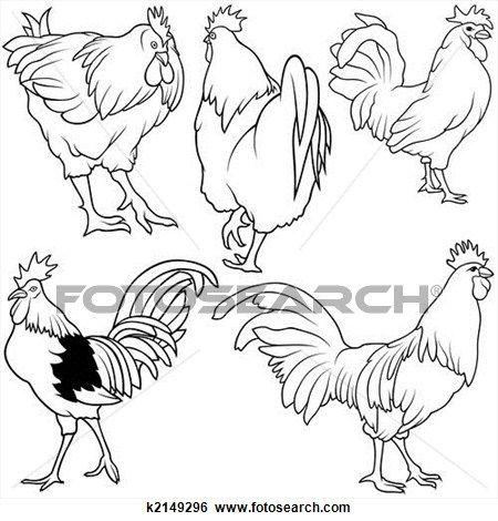 Rooster Set  View Large Illustration