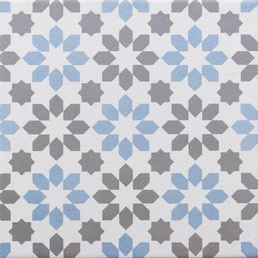 Carrelage Sol Et Mur Gris Fonce Bleu Baltique Effet Ciment Gatsby L 20 X L 20 Cm Murs Gris Fonce Mur Gris Et Carrelage Sol