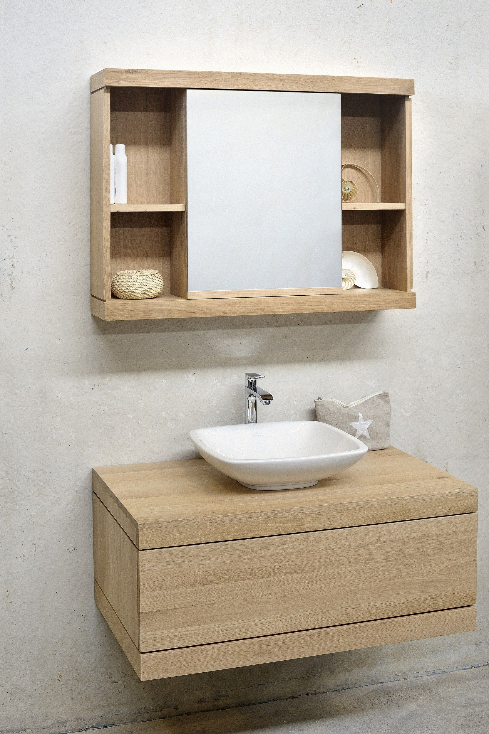 Oak Cadence Vanity Unit By Ethnicraft Wooden Bathroom Vanity Bathroom Vanity Units Washbasin Design