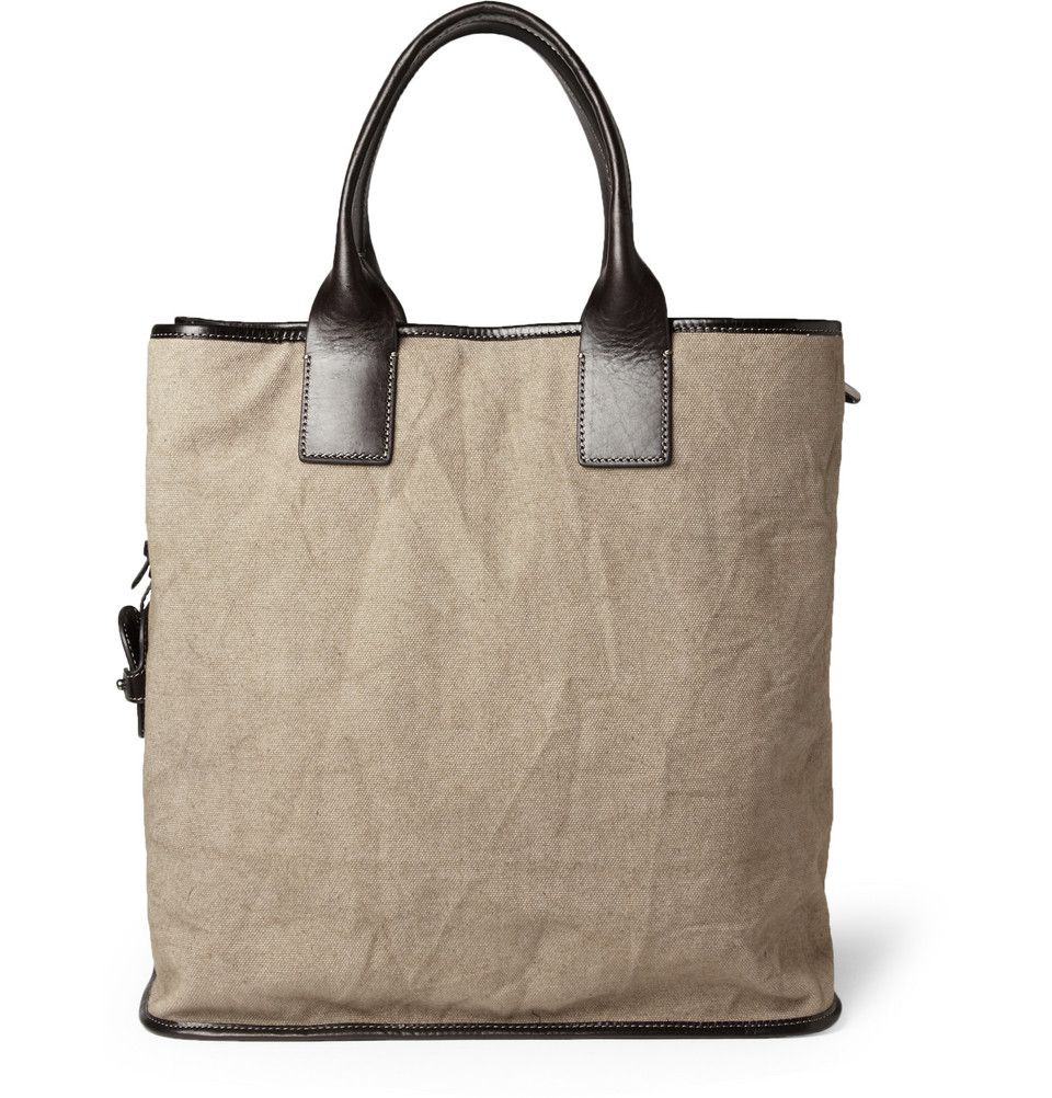 Saint Laurent Men's Reversible Suede and Leather Tote Bag | Men's ...