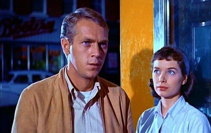 Aneta Corsaut and Steve McQueen in The Blob (1958)   Steve mcqueen, Steve,  Mcqueen
