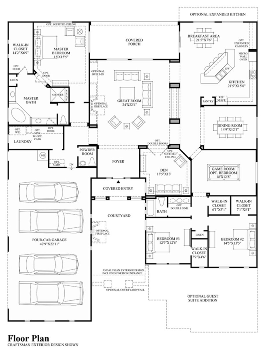 Costellana At Dorada Estates Luxury New Homes In Queen Creek Az Best House Plans Floor Plans Dream House Plans