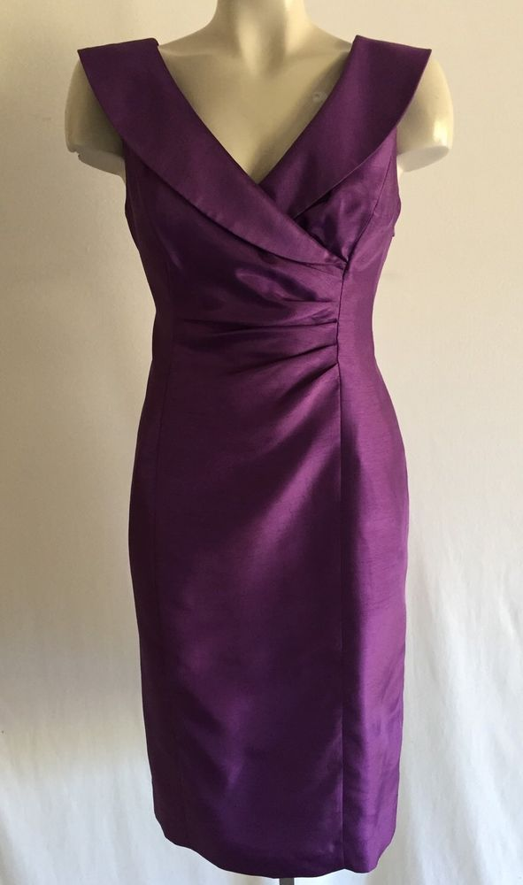 Jones New York Purple Straight Cocktail Dress Sz 8 | eBay