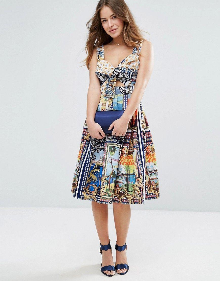 204a01936 Fgh Worysta Sukienka 34 7681454713 Oficjalne Archiwum Allegro Dresses Summer Dresses Midi Dress