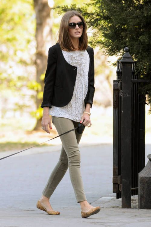 Olivia Palermo does casual chic