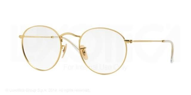 ca1525c36f ... switzerland ray ban unisex rx 3447v 2730 50mm matte gold round metal  eyeglasses 00091 e1fcb