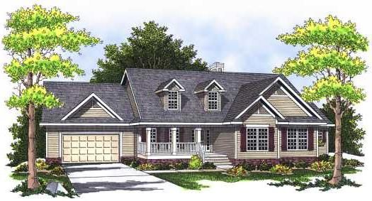 Country Style House Plans - 3323 Square Foot Home , 1 Story, 4 Bedroom and 3 Bath, 2 Garage Stalls by Monster House Plans - Plan 7-528