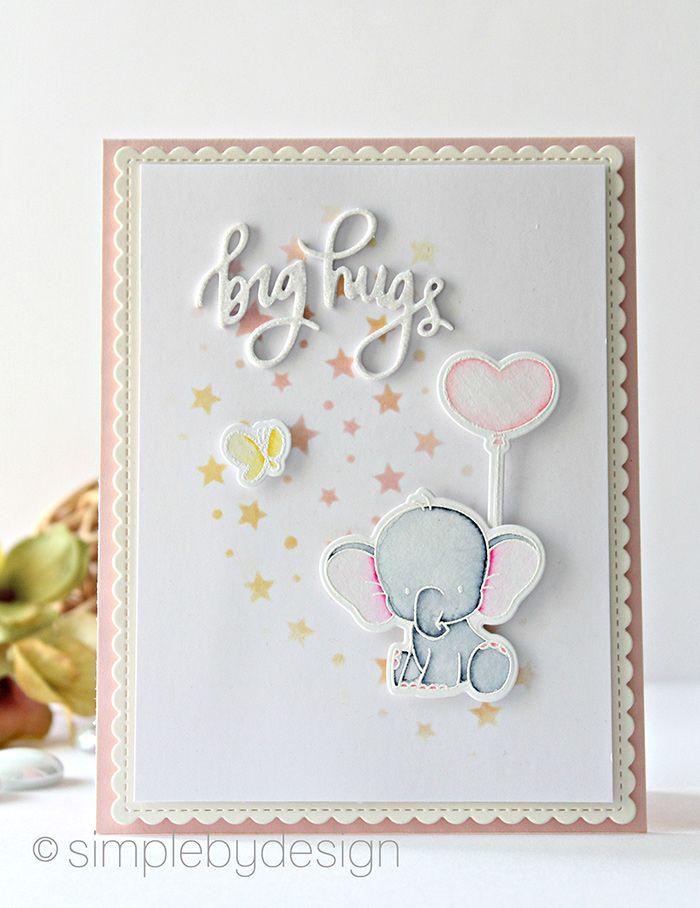 Big Elephant Hugs Kids Birthday Cards Greeting Card Inspiration Hello Cards