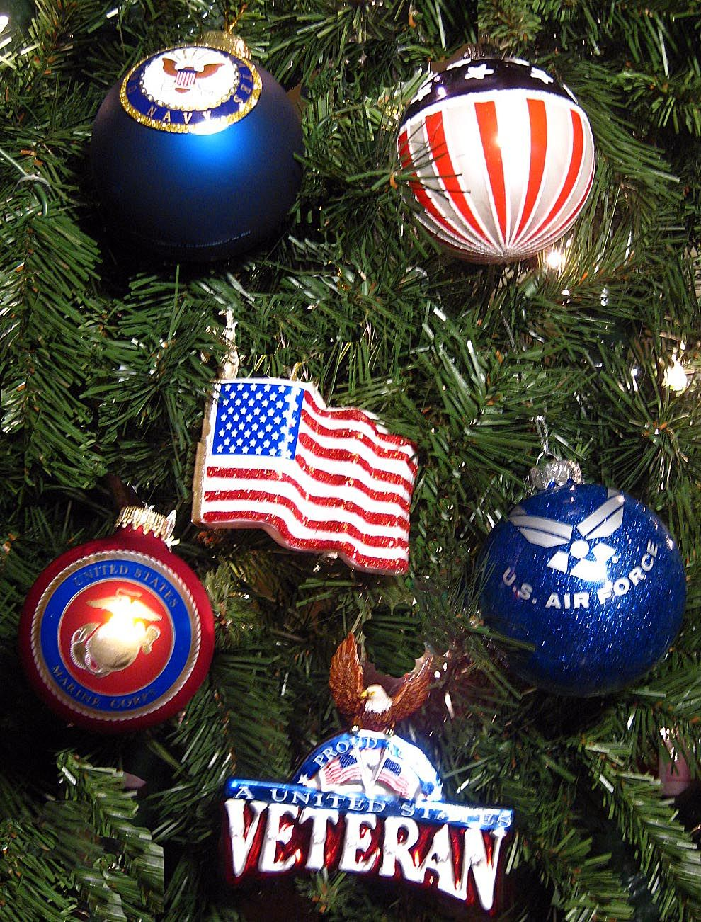 Patriotic Ornaments Patriotic Christmas Tree Patriotic Christmas Christmas Tree Decorations