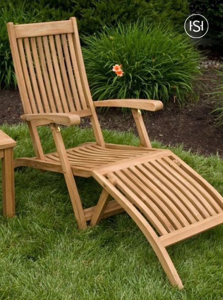 Sensational Holley Teak Outdoor Folding Steamer Lounge Chair The Theyellowbook Wood Chair Design Ideas Theyellowbookinfo