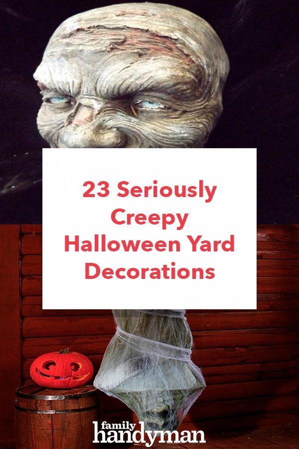 23 Seriously Creepy Halloween Yard Decorations New/Smart Homeowner