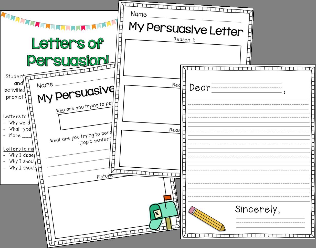 my persuasive writing graphic organizer