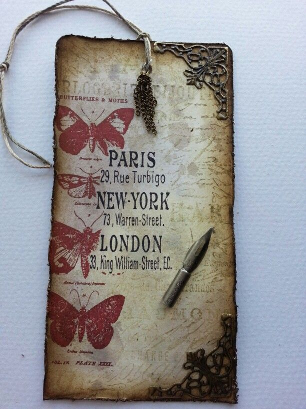 Tim Holtz 12 tags of 2013 - August, Papillon